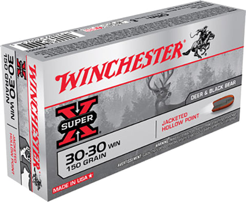 Winchester Ammo X30301 Super-X 30-30 Winchester 150 GR Hollow Point 20 Bx/ 10 Cs