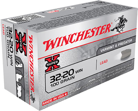 Winchester Ammo X32201 Super-X 32-20 Winchester 100 GR Lead 50 Bx/ 10 Cs