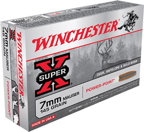 Winchester Ammo X7MM1 Super-X 7X57mm Mauser 145 GR Power-Point 20 Bx/10 Cs