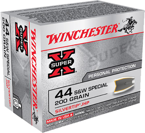 Winchester Ammo X44STHPS2 Super-X 44 Smith & Wesson Special 200 GR Silvertip HP 20 Bx/ 10 Cs