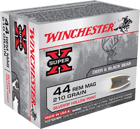 Winchester Ammo X44MS Super-X 44 Remington Magnum 210 GR Silvertip HP 20 Bx/ 10 Cs