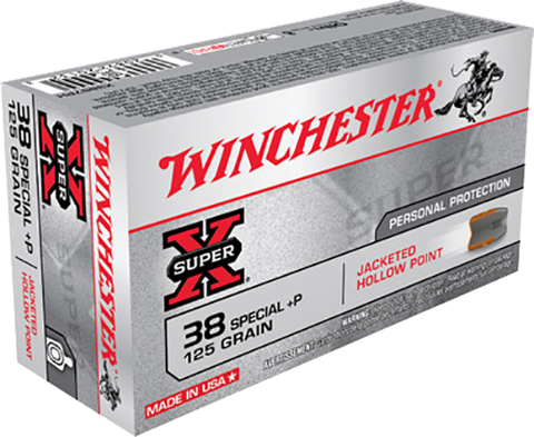 Winchester Ammo X38S7PH Super-X 38 Special 125 GR Jacketed Hollow Point 50 Bx/10 Cs