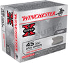 Winchester Ammo X45CP2 Super-X 45 Colt (LC) 255 GR Lead Round Nose 20 Bx/10 Cs