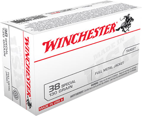 Winchester Ammo Q4171 Best Value 38 Special 130 GR Full Metal Jacket 50 Bx/ 10 Cs