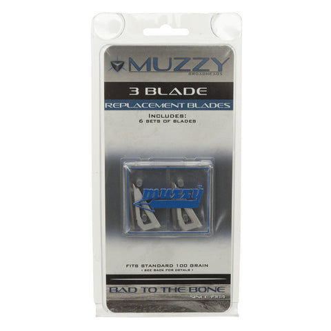 Muzzy Replacement Blades 3 Blade 100 gr. 18 pk.