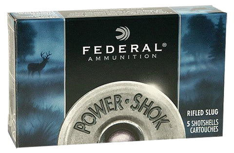 "Federal F127RS Power-Shok 12 Gauge 2.75"" 1 oz Slug Shot 5 Bx/ 50 Cs"