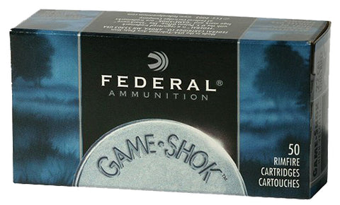 Federal 710 Game-Shok 22 Long Rifle 40 GR Copper-Plated Solid Point 50 Bx/ 100 Cs