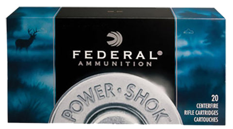 Federal 3006CS Power-Shok 30-06 Springfield 125 GR Jacketed Soft Point 20 Bx/ 10 Cs