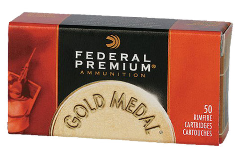 Federal 711B Gold Medal Premium Subsonic 22 LR Solid 40 GR 50Box/100Case