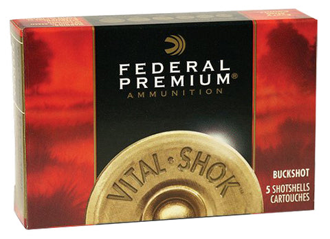 "Federal P2582B Vital-Shok 20 Gauge 3"" Buckshot 18 Pellets 2 Buck 5 Bx/ 50 Cs"