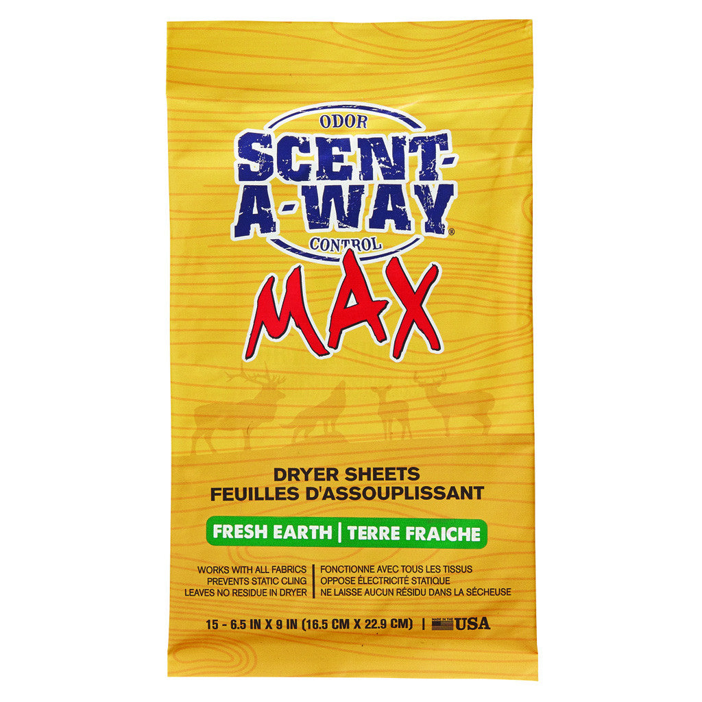 Scent-A-Way Max Dryer Sheets Fresh Earth 15 pk.