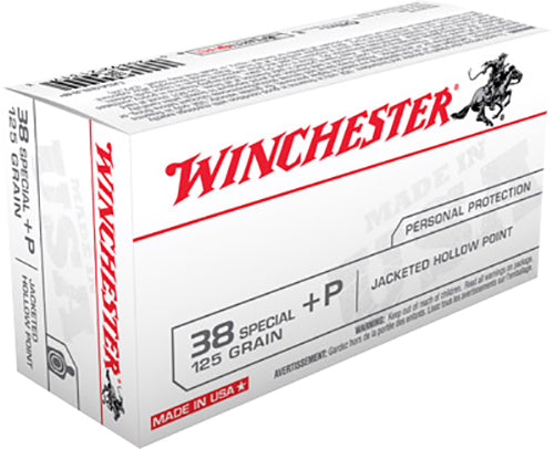 Winchester Ammo USA38JHP Best Value 38 Special +P 125 GR Jacketed Hollow Point 50 Bx/ 10 Cs