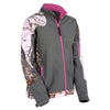 Yukon Womens Soft Shell Jacket Mossy Oak Pink/Grey X-Large