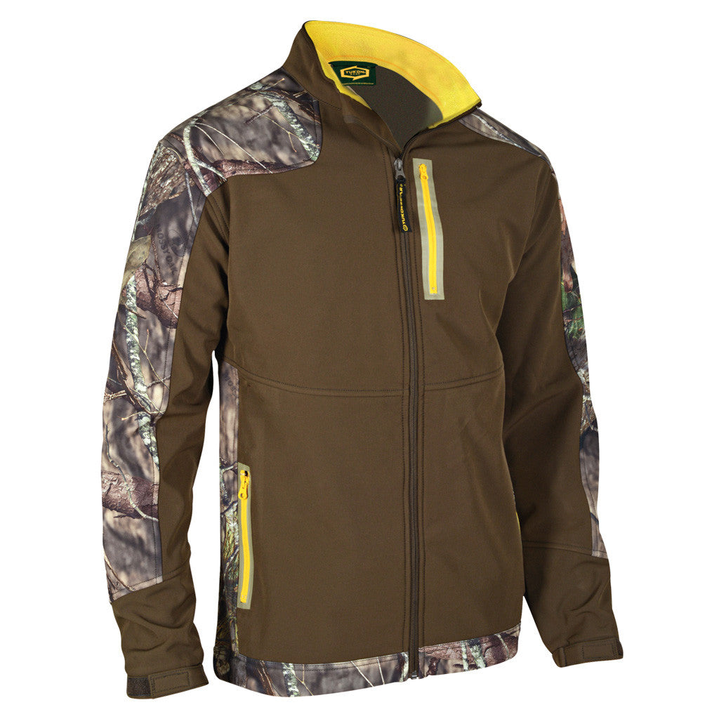 Yukon Mens Soft Shell Jacket Mossy Oak Country/Brown X-Large