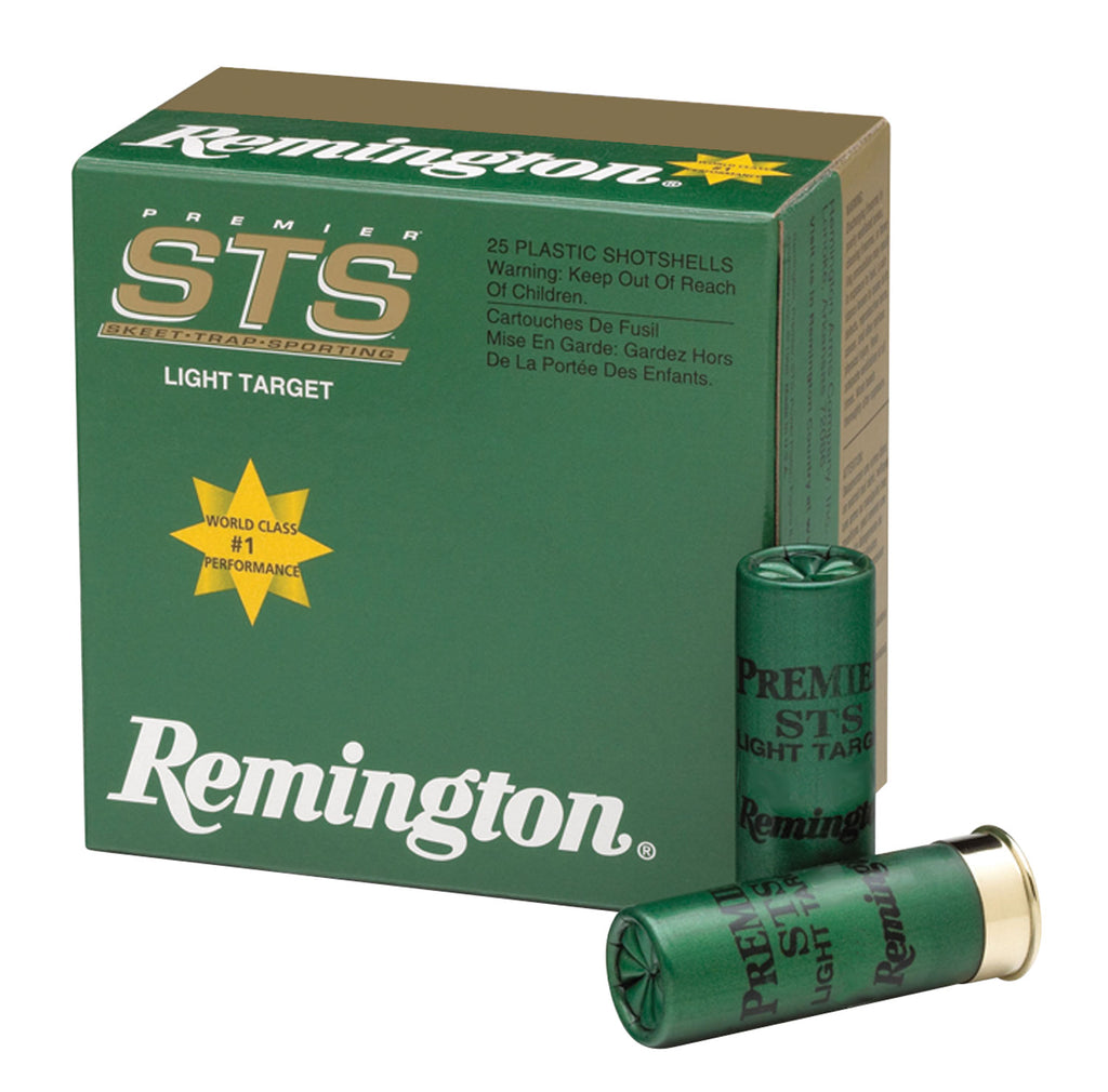 "Remington Ammunition STS12L8 Premier STS Target Load 12 Gauge 2.75"" 1 1/8 oz 8 Shot 25 Bx/ 10 Cs"
