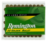 Remington Ammunition 1500 Golden Bullet 22 Long Rifle (LR) 40 GR Plated Lead Round Nose 100 Bx/ 50 Cs - 100 Rounds