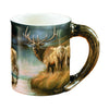 Wild Wings Sculpted Mug Autumn Mist Elk