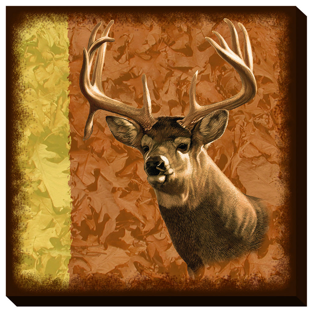 Wild Wings Wrapped Canvas Droptine Buck