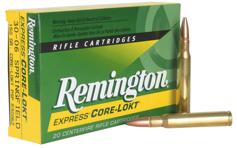 Rem Ammo R30062 Core-Lokt 30-06 Spg Core-Lokt Pointed Soft Point 150GR 20Bx/10Cs