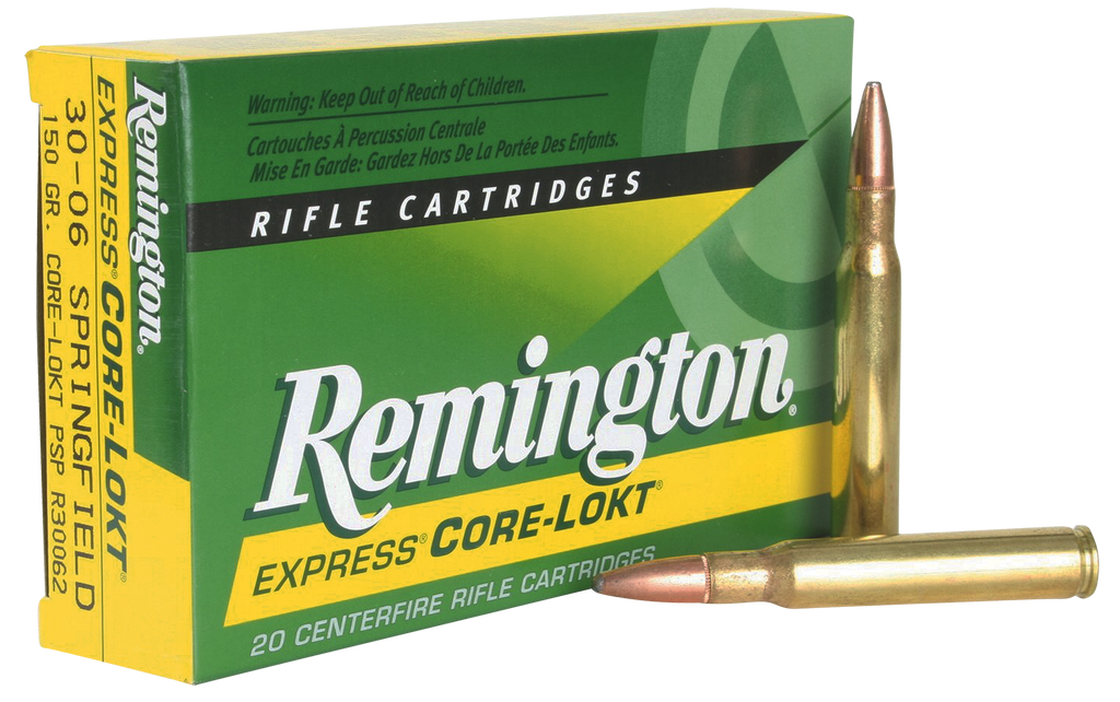 Remington Ammunition R30065 Core-Lokt 30-06 Springfield 180 GR Core-Lokt Pointed Soft Point 20 Bx/ 10 Cs