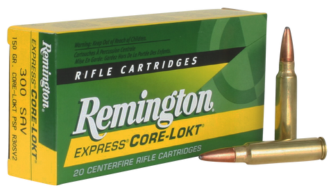 Rem Ammo R30SV2 Core-Lokt 300 Savage Pointed Soft Point 150 GR 20Box/10Case
