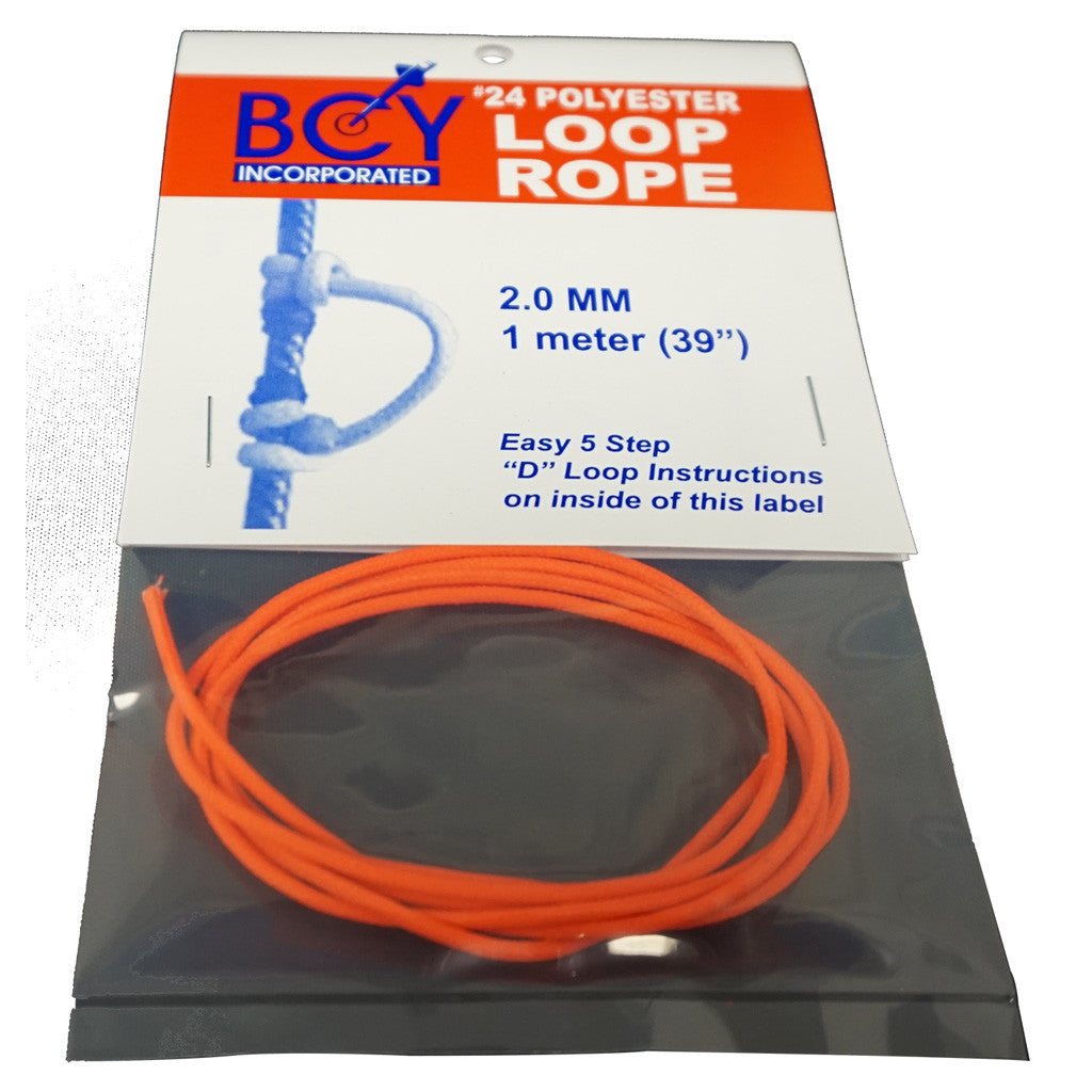 BCY Size 24 D Loop Rope Neon Orange 1 m