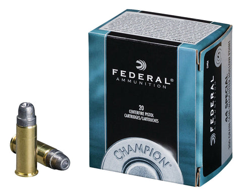 Federal C44SA Champion Training 44 S&W Spl 200 gr Semi-Wadcutter Hollow Point (SWCHP) 20 Bx/ 25 Cs