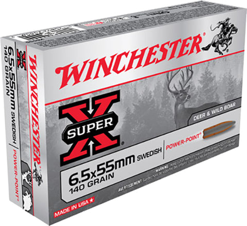 Winchester Ammo X6555 Super-X 6.5X55mm Swedish 140 GR Soft Point 20 Bx/10 Cs