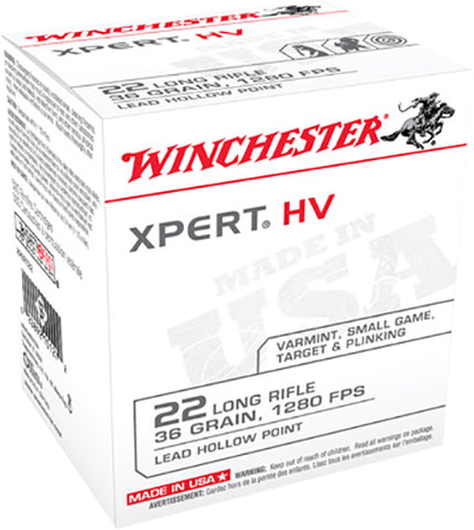 Winchester Ammo XPERT22 XPert 22 Long Rifle (LR) 36 GR Lead Hollow Point 500 Bx/ 10 Cs - 5000 Rounds