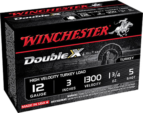 "Winchester Ammo STH1235 Double X Turkey 12 Gauge 3"" 1-3/4 oz 5 Shot 10 Bx/ 10 Cs"