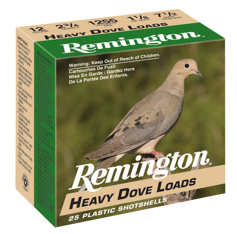 "Remington Ammunition RHD1275 Heavy Dove Loads  12 Gauge 2.75"" 1 1/8 oz 7.5 Shot 25 Bx/ 10 Cs"