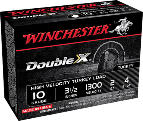 "Winchester Ammo STH104 Double X Turkey 10 Gauge 3.5"" 2 oz 4 Shot 10 Bx/ 10 Cs"