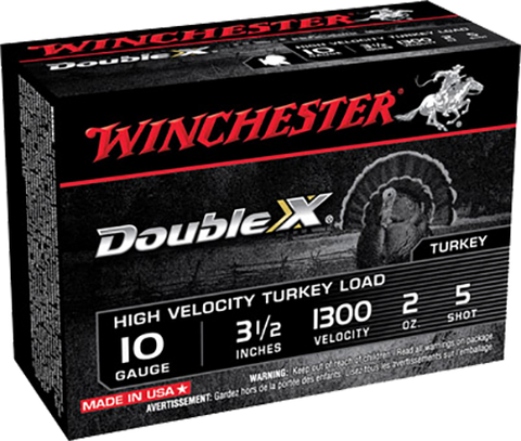 "Winchester Ammo STH105 Double X Turkey 10 Gauge 3.5"" 2 oz 5 Shot 10 Bx/ 10 Cs"