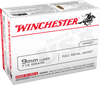 Winchester Ammo USA9MMVP Best Value 9mm Luger 115 GR Full Metal Jacket 100 Bx/ 10 Cs - 100 Rounds