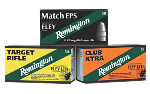 Rem Ammo RE22EPS Eley Competition Match 22LR Lead Flat Nose 40GR 50Bx/100Cs
