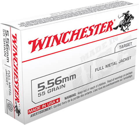 Winchester Ammo Q3131 Best Value 223 Remington/5.56 NATO 55 GR Full Metal Jacket 20 Bx/ 50 Cs