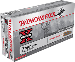 Winchester Ammo X7MMWSM Super-X 7mm Winchester Short Magnum 150 GR Power-Point 20 Bx/ 10 Cs
