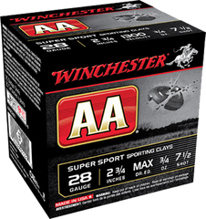 "Winchester Ammo AASC287 AA Target Loads 28 Gauge 2.75"" 3/4 oz 7.5 Shot 25 Bx/10 Cs - 250 Rounds"