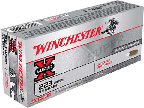 Winchester Ammo X223WSS Super-X 223 Winchester Super Short Magnum 55 GR Pointed Soft Point 20 Bx/ 10 Cs