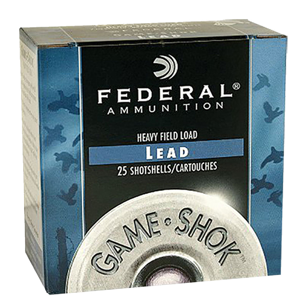 "Federal H1256 Game-Shok Upland Heavy Field 12 Gauge 2.75"" 1 1/4 oz 6 Shot 25 Bx/ 10 Cs"