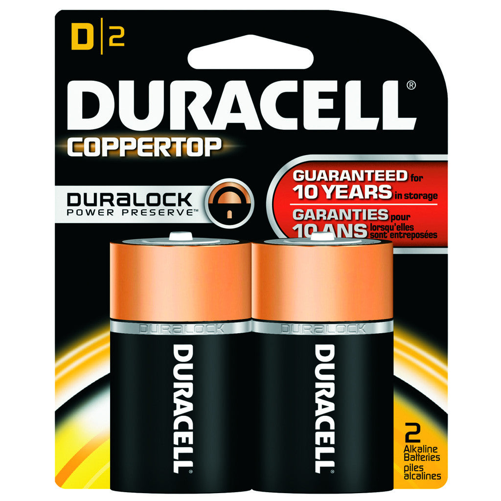 Duracell Coppertop Battery D 2 pk.