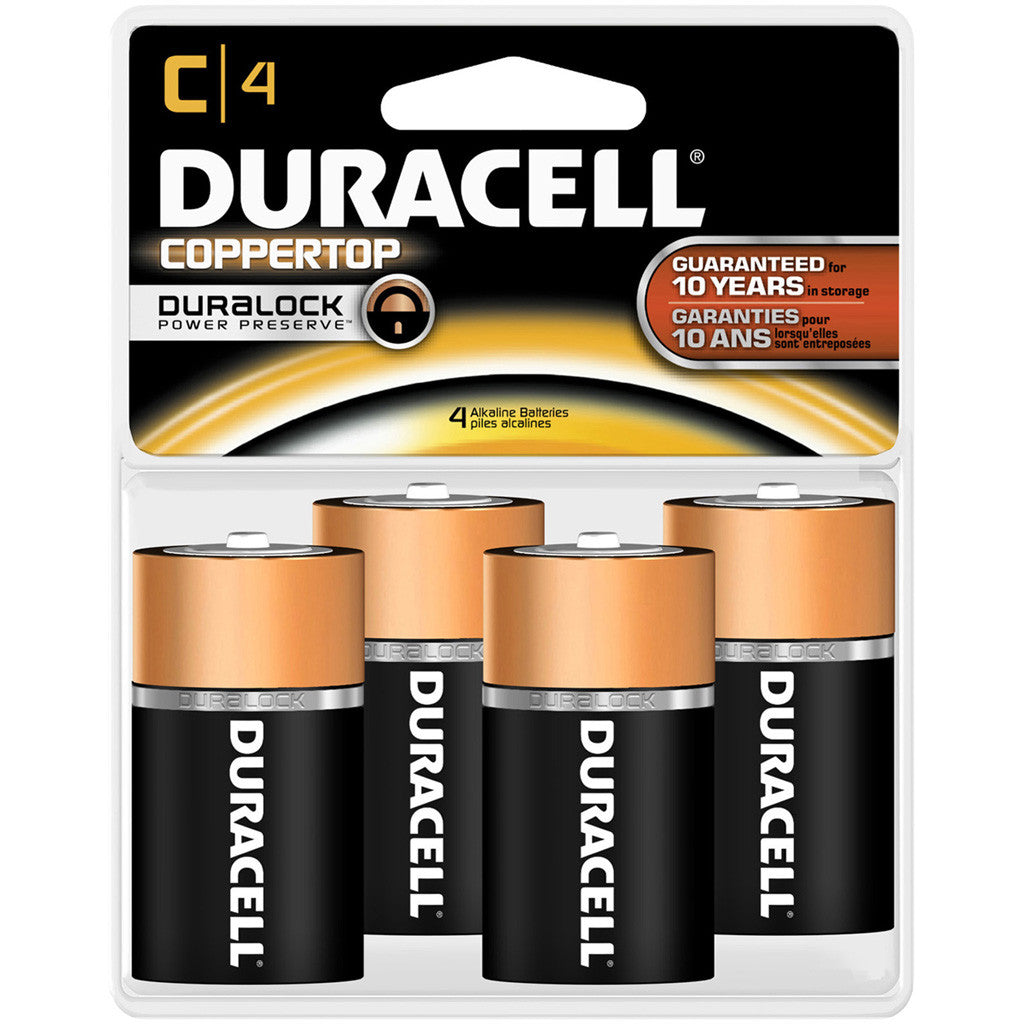 Duracell Coppertop Battery C 4 pk.