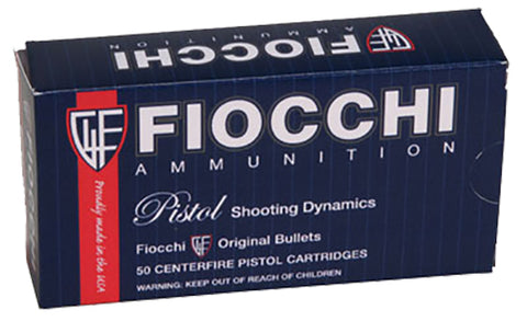 Fiocchi 9APBHP Pistol Shooting Dynamics 9mm 124 GR JHP 50 Bx/20 Cs