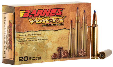 Barnes 21538 VOR-TX 300 Winchester Mag 180GR Tipped TSX Boat Tail 20Box/10Case