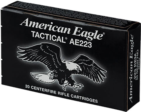 Federal AE223J American Eagle 223 Remington/5.56 NATO 55 GR Full Metal Jacket Boat Tail 20 Bx/ 25 Cs