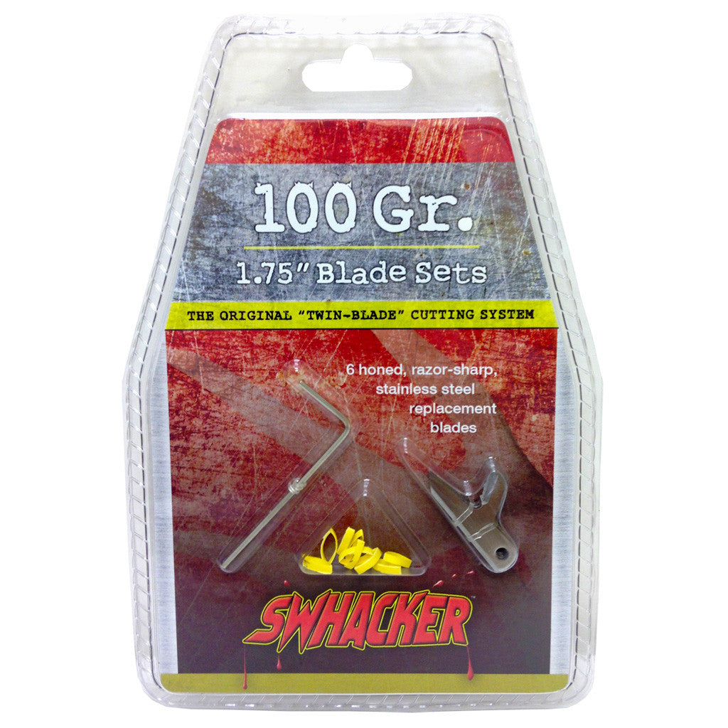 Swhacker Replacement Blades 2 Blade 100 gr. 1.75 in. 6 pk.