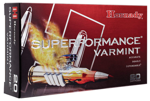 Hornady 8316 Superformance Varmint 222 Remington 50 GR V-Max 20 Bx/ 10 Cs