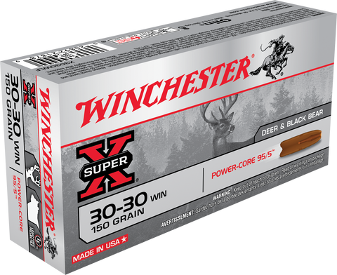 Winchester Ammo X3030WLF Super-X 30-30 Winchester 150 GR Power Core 20 Bx/ 10 Cs