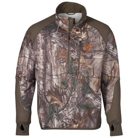 Browning Fleece 1/4 Zip Jacket Realtree Xtra Medium
