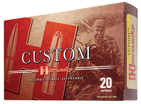 Hornady 8202 Custom 300 Winchester Magnum 165 GR Boat Tail Soft Point 20 Bx/ 10 Cs